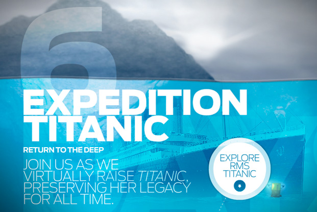 explore titanic wrekage website