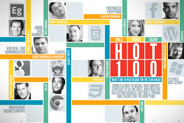 web designer hot 100 trends